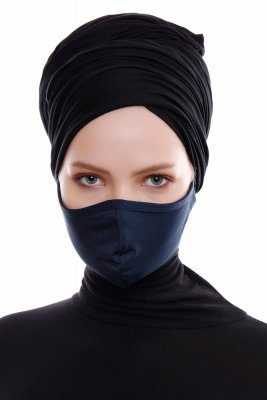 Asli - Navy Blue Sport Facemask / Face Cover