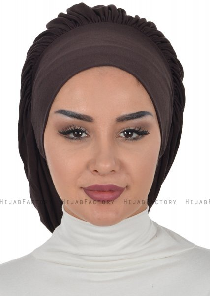 Isabella - Brown Cotton Turban - Ayse Turban