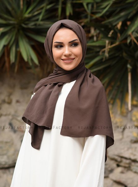 Alida - Brown Cotton Hijab - Mirach