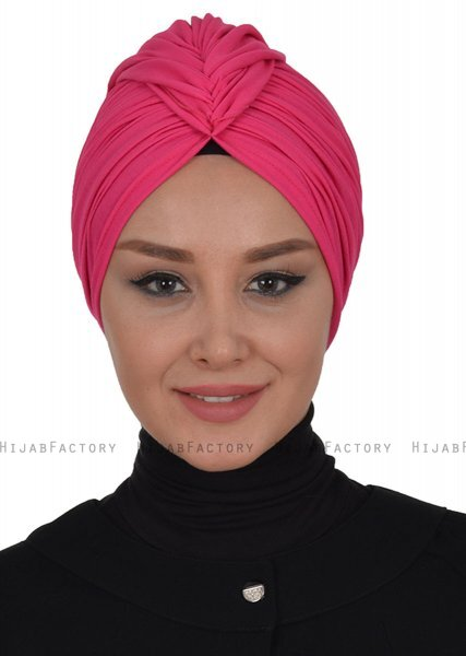 Amy - Fuchsia Cotton Turban - Ayse Turban