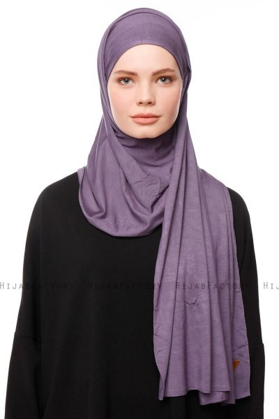 Asya - Purple Practical Viskos Hijab