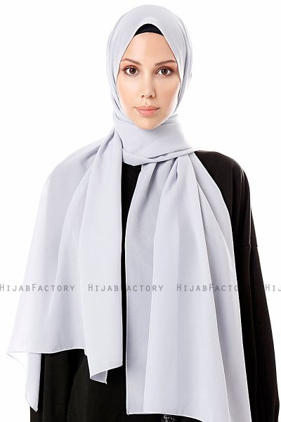 Ayla - Light Grey Chiffon Hijab