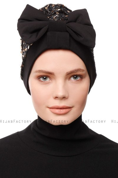 Enfleda - Black & Gold Turban