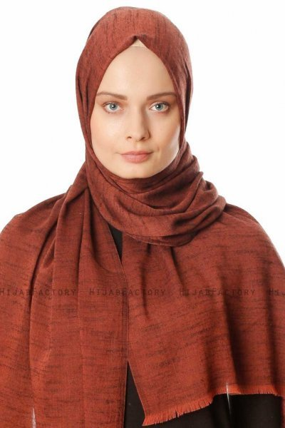 Esana - Brick Red Hijab - Madame Polo
