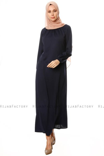 Esra - Navy Blue Dress - Miss Halima