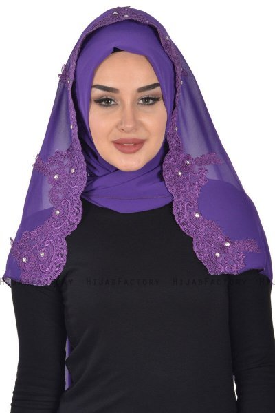 Helena - Purple Practical Hijab - Ayse Turban