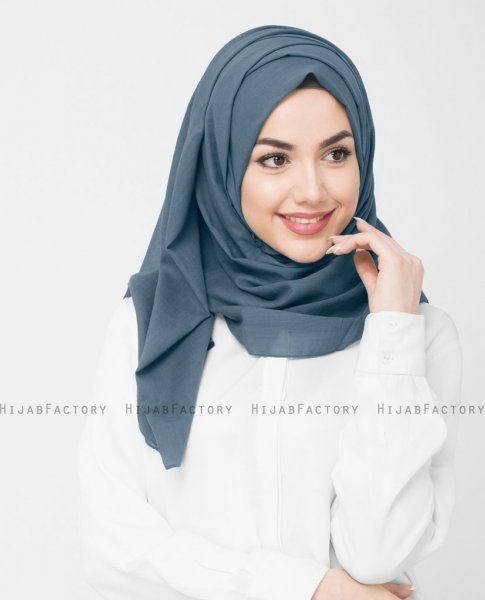 Indian Teal - Teal Bomull Voile Hijab InEssence ayisah.com 5TA39c