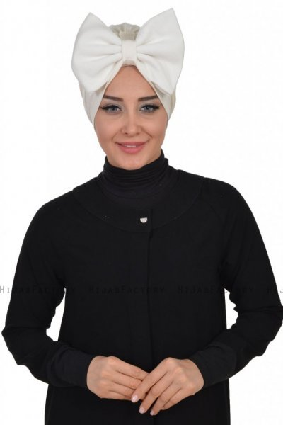 Julia - Creme Cotton Turban - Ayse Turban