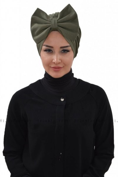 Julia - Khaki Cotton Turban - Ayse Turban