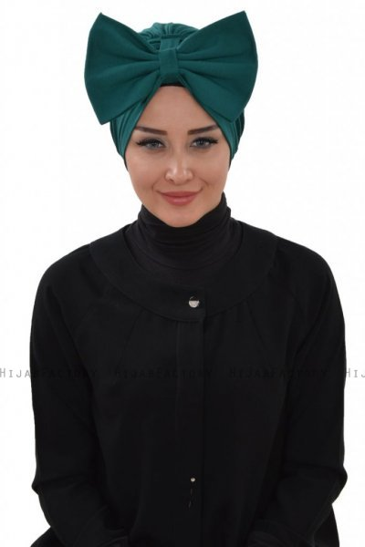 Julia - Dark Green Cotton Turban - Ayse Turban