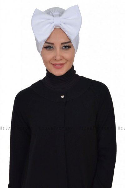Julia - White Cotton Turban - Ayse Turban