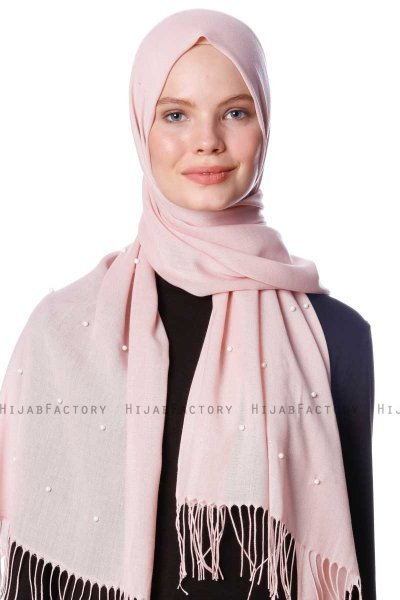 Kadri - Dusty Pink Hijab With Pearls - Özsoy