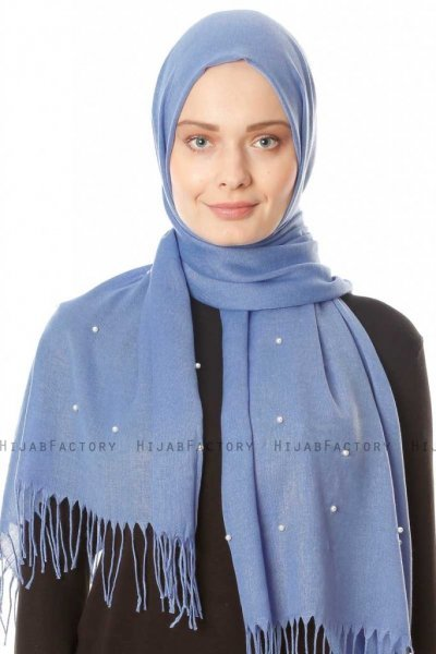 Kadri - Light Blue Hijab With Pearls - Özsoy