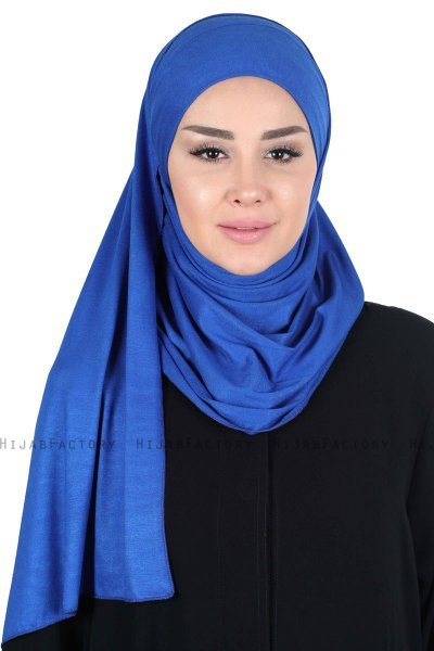 Kaisa - Blue Practical Cotton Hijab