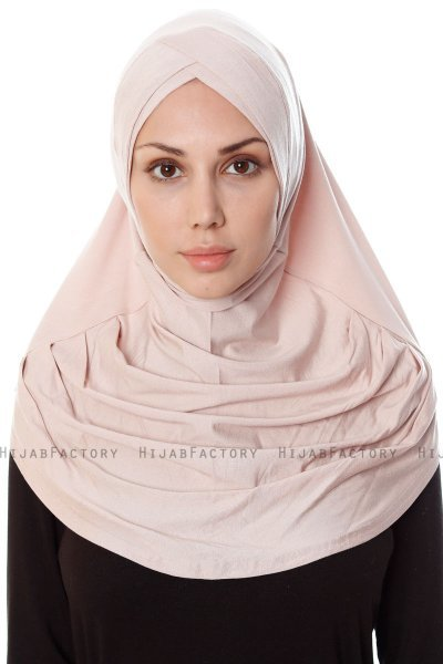 Mia - Dusty Pink One-Piece Al Amira Hijab - Ecardin