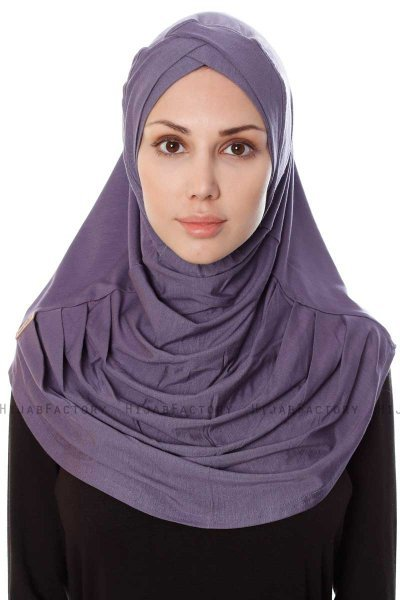 Mia - Purple One-Piece Al Amira Hijab - Ecardin