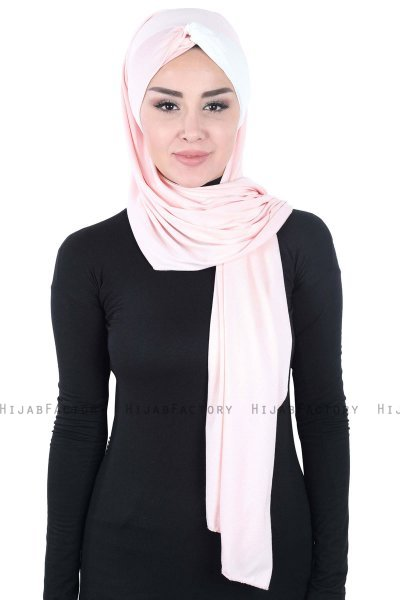 Mikaela - Dusty Pink & Creme Practical Cotton Hijab