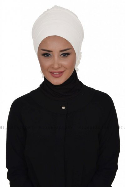 Monica - White Cotton Turban - Ayse Turban