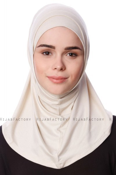 Nehir - Light Beige 2-Piece Al Amira Hijab