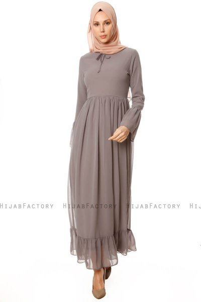 Samiya - Grey Chiffon Dress - Burun