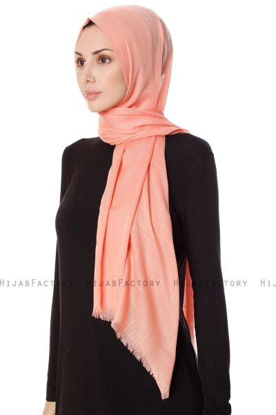 Selma - Orange Plain Color Hijab - Gülsoy