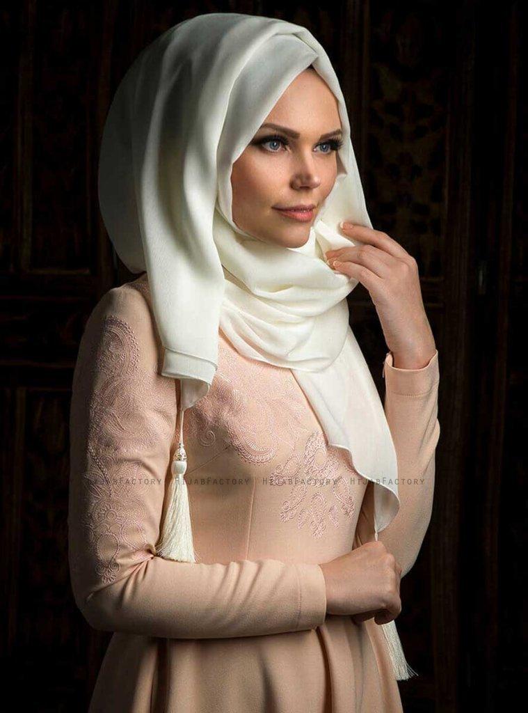 MW - Offwhite Chiffon Hijab - Muslima Wear - Hijab