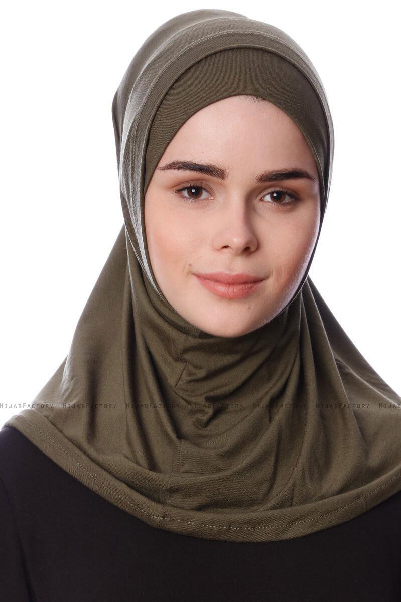 2-Piece Al Amira Hijab - White- Saycoscarves
